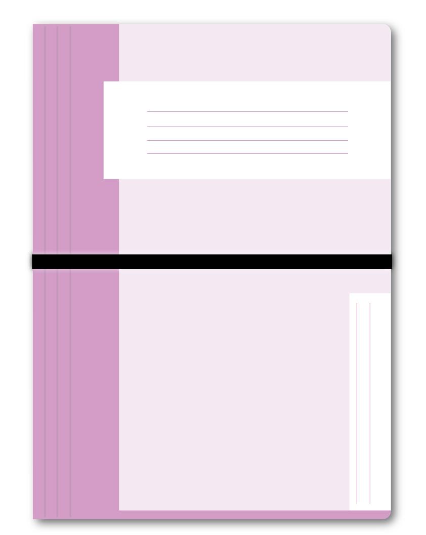 Trias dossiermap met elastiek, roze