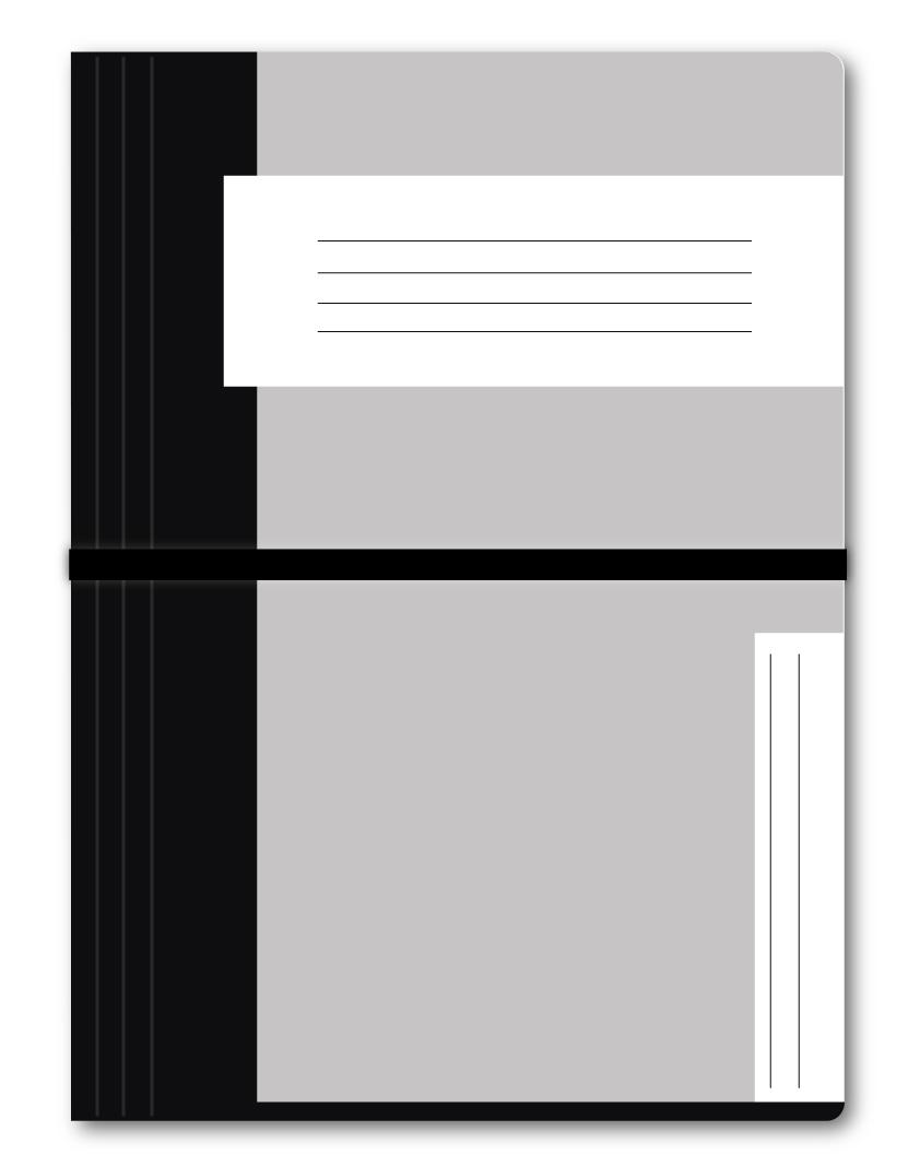 Trias dossiermap met elastiek, zwart