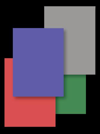Achterbladen tabbladenset, blauw