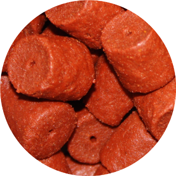 Red Halibut 14mm<br />(met gat)