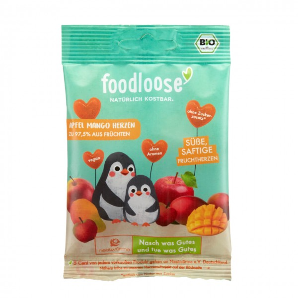 FOODLOOSE APPEL MANGO FRUITHART bio vegan
