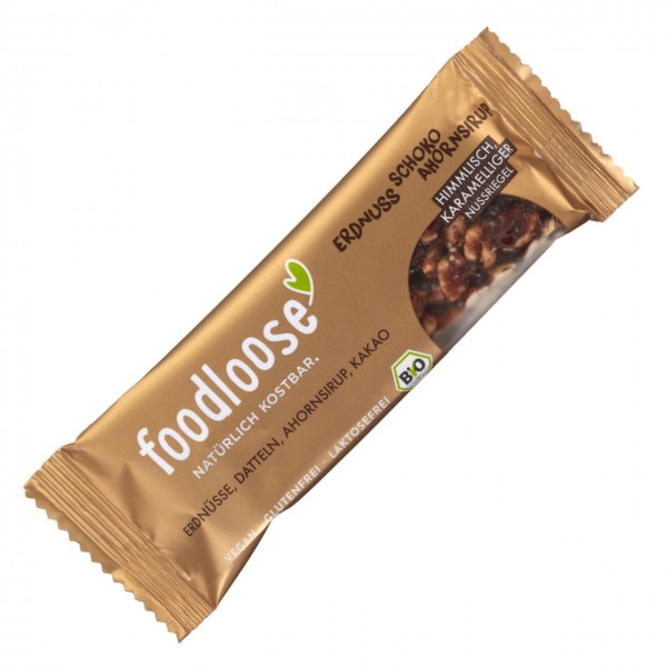 FOODLOOSE NOTENREPEN pinda chocolade bio vegan