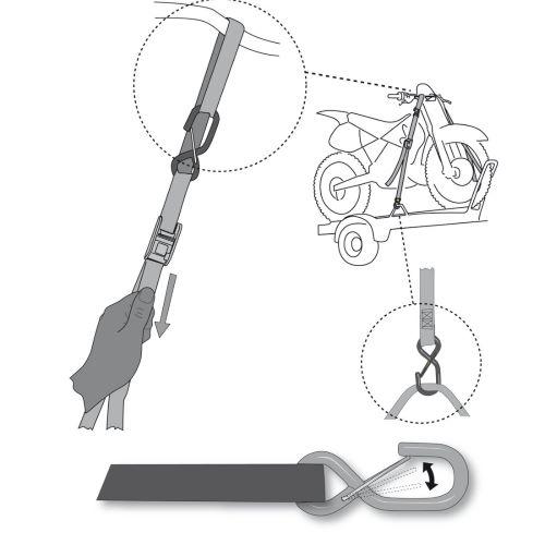 Acerbis TIE DOWNS straps 35 mm SET X 2