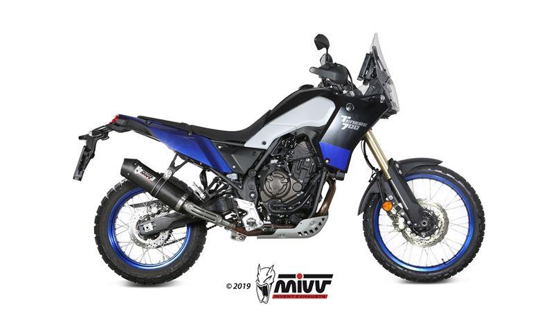 MIVV Oval carbon exhaust with carbon cap Yamaha XT 700 Z Tenere '19-