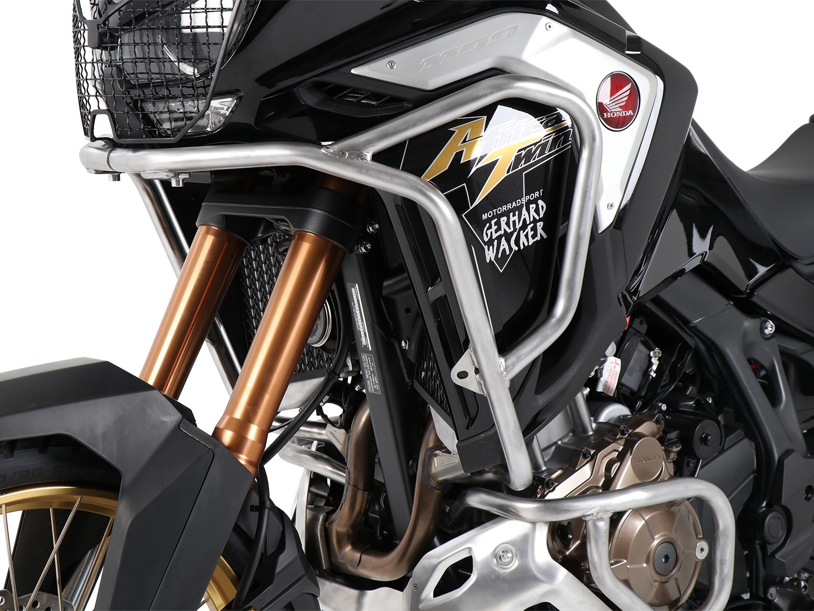 Hepco Upper Engine/Tank Protection Honda CRF 1100 L Africa Twin Adventure Sports-  STAINLESS STEEL 2020