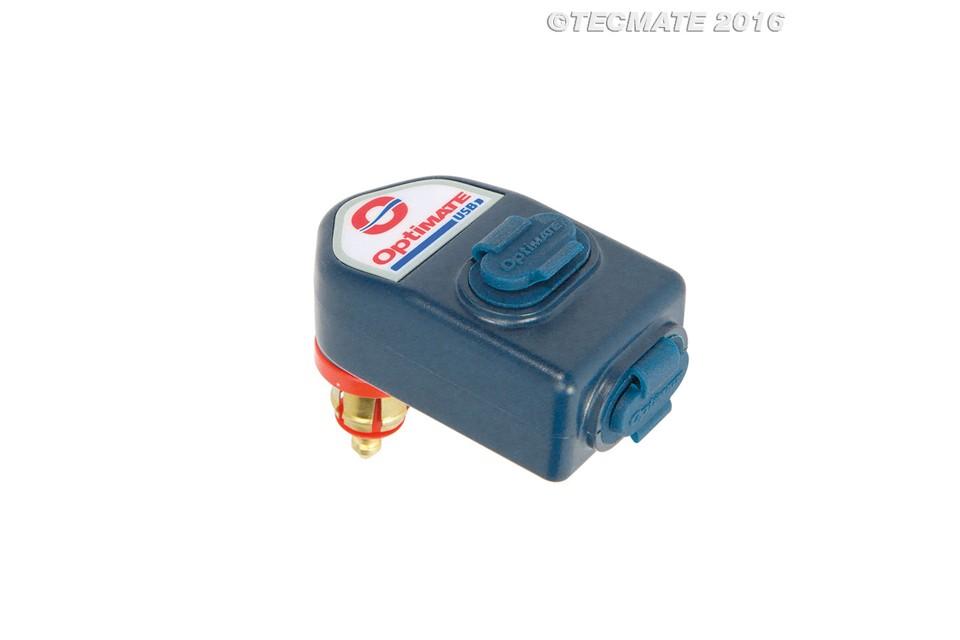 TECMATE OPTIMATE O-105 USB MOTOR 90° CONNECTIE MET ACCUBESCHERMING