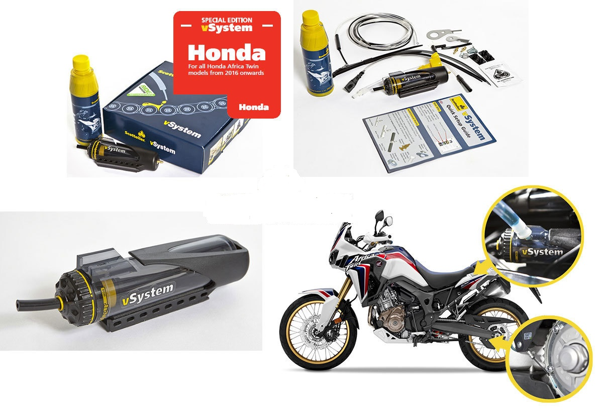 Scottoiler vacuum kettingsmeersysteem voor Honda CRF1000 2016