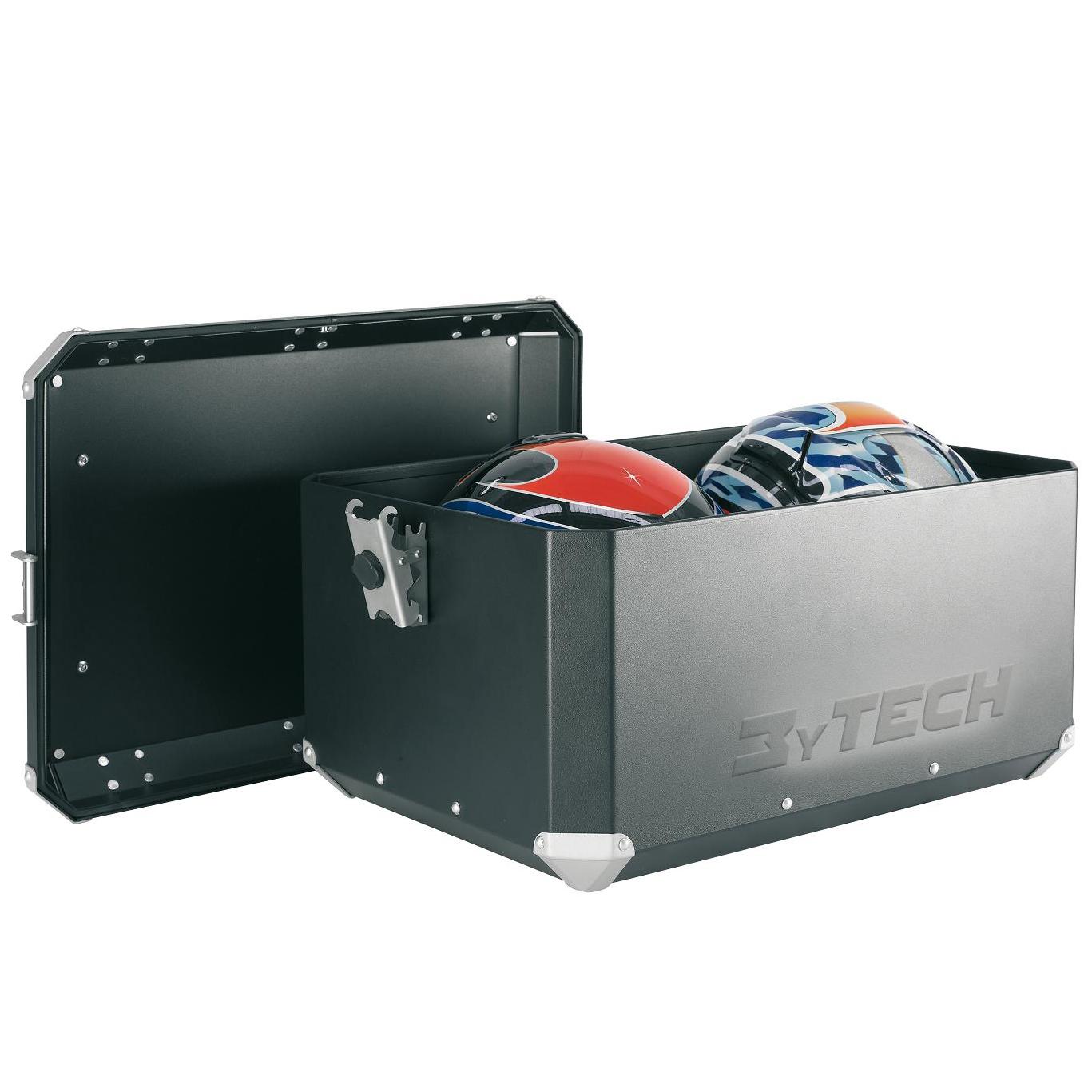 MyTech TOP CASE 55 ltr with Rack - Aluminium ---SAVE