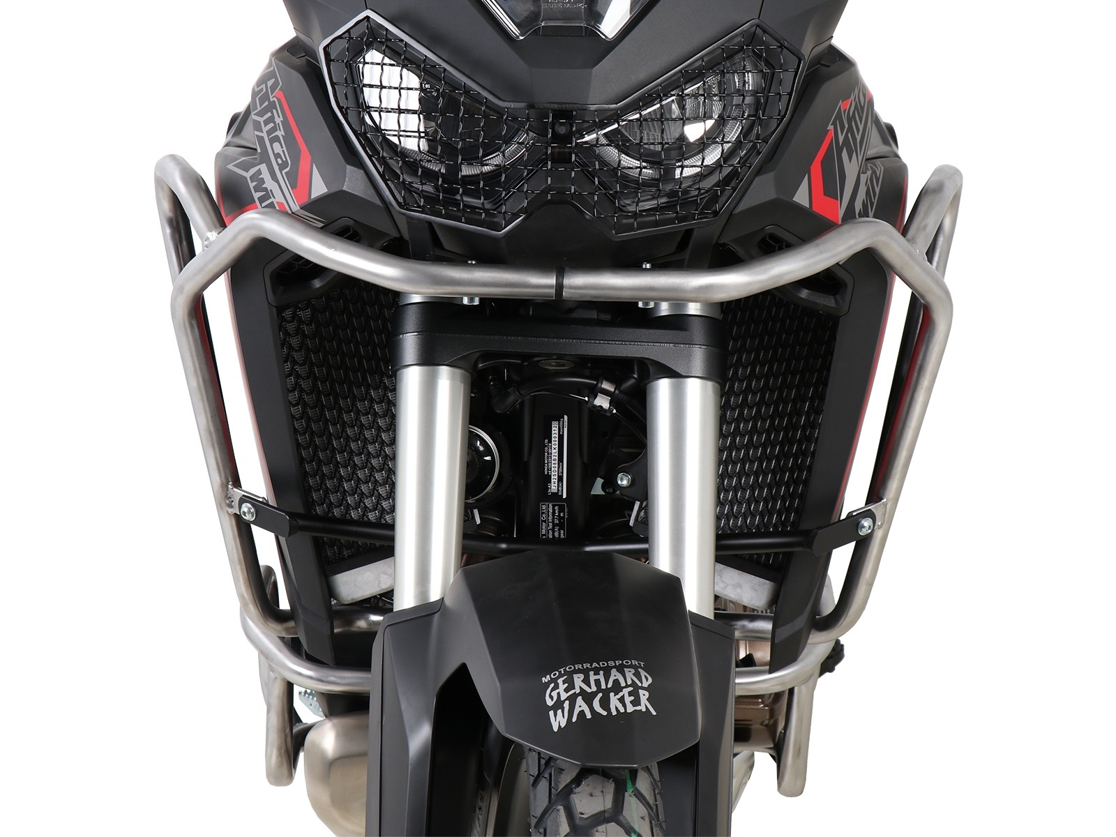 Hepco Upper Engine/Tank Protection Honda CRF 1100 L Africa Twin 2019-  STAINLESS STEEL