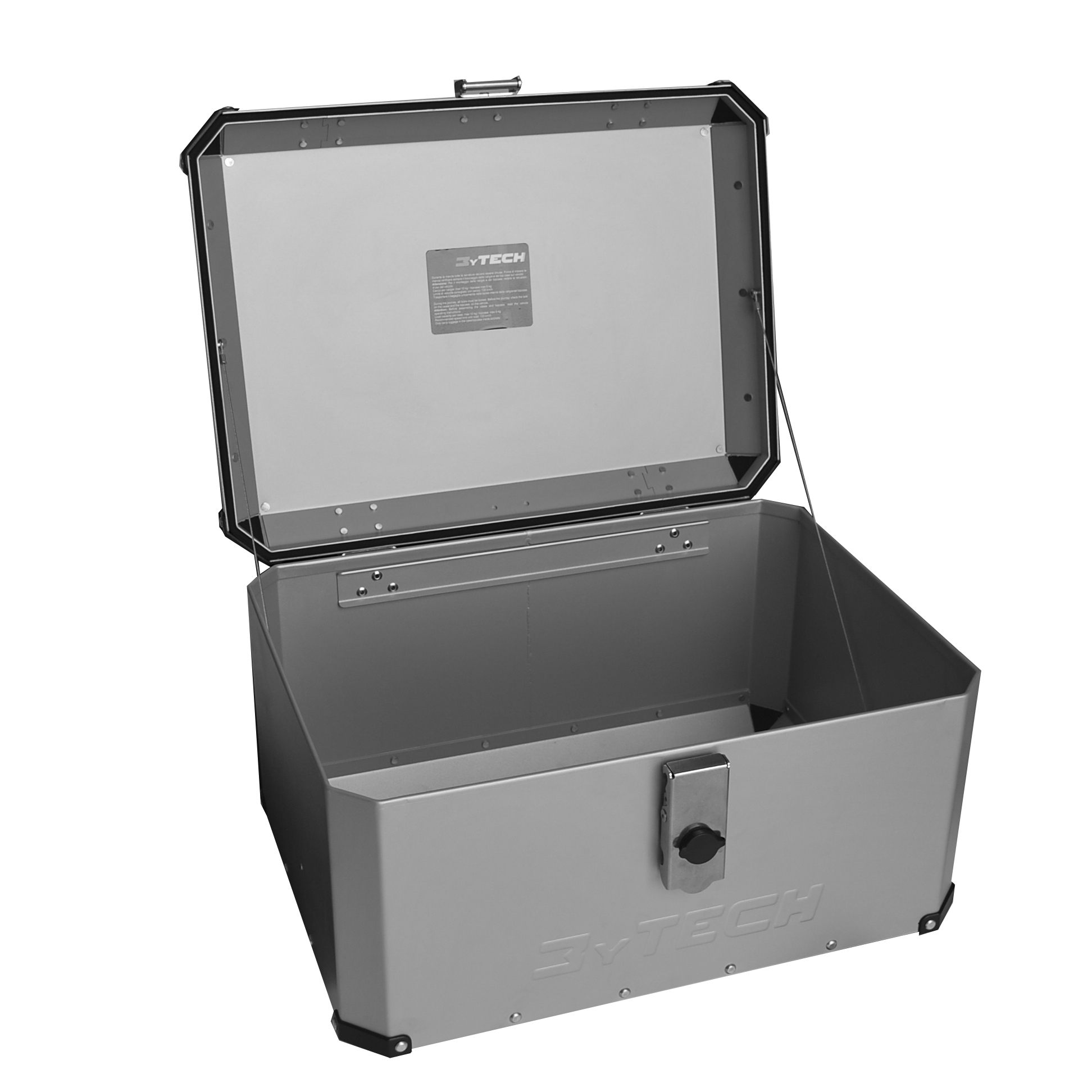 Mytech TOP CASE 55 LITER WITH FRONT OPENING - Silver