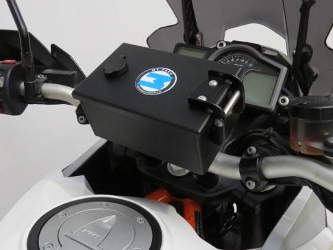 Mytech BMW R 1200 GS Lockable Handlebar Storage Box - Silver