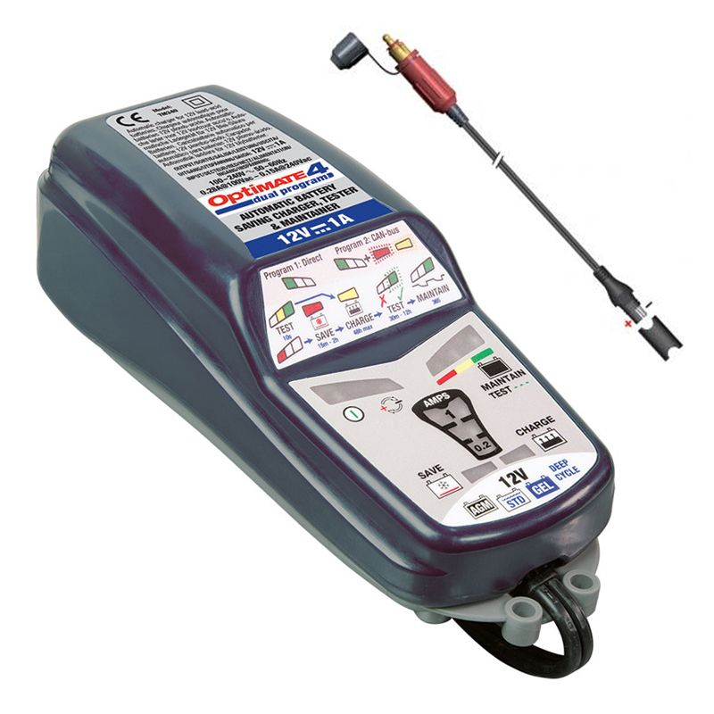 Tecmate Optimate 4 1A CAN-BUS Edition Battery Chareger