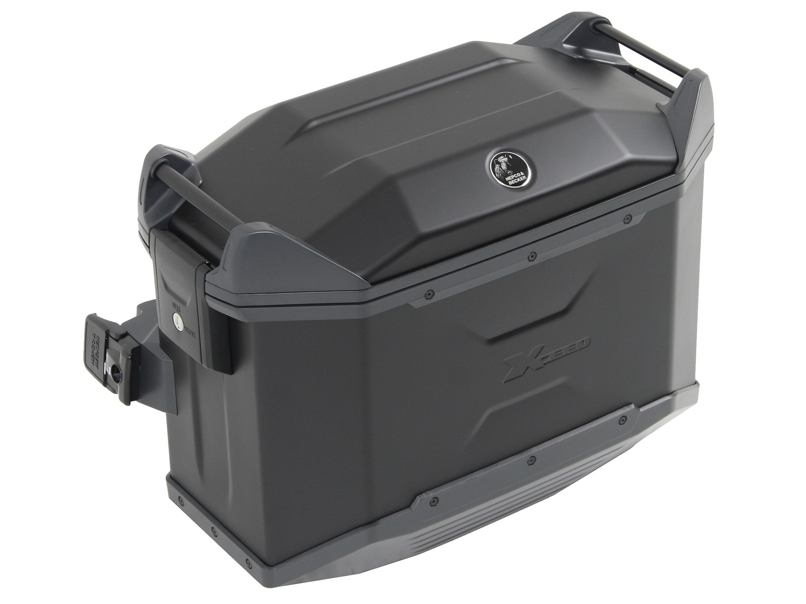 Hepco & Becker Side Case XCEED 38L Silver--Left