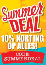 Summerdeal 10% korting op alles!