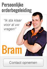 Contact opnemen met Bram, uw persoonlijke orderbegeleider