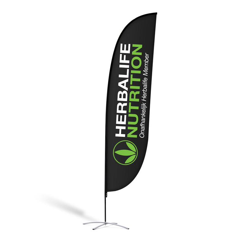 "Beachflag ""Herbalife Nutrition Black"""