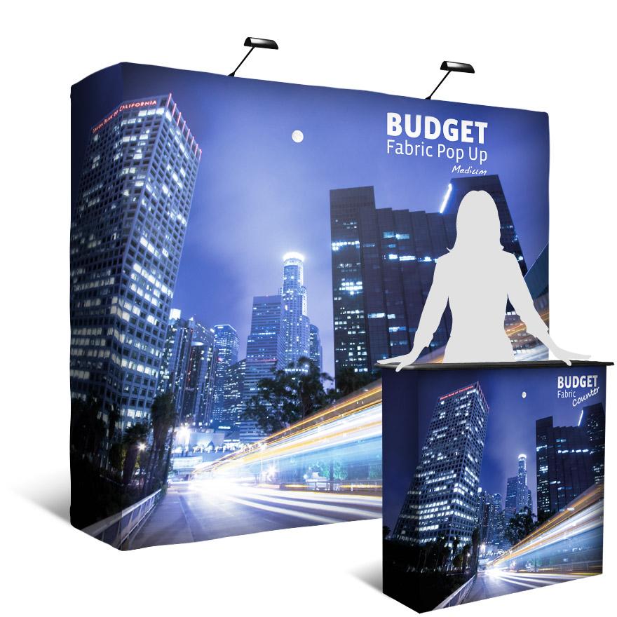 Budget Pop-Up Fabric Display Medium
