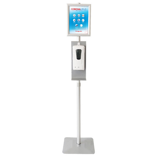 Desinfectiezuil Contactloze Dispenser met Kliklijst A4