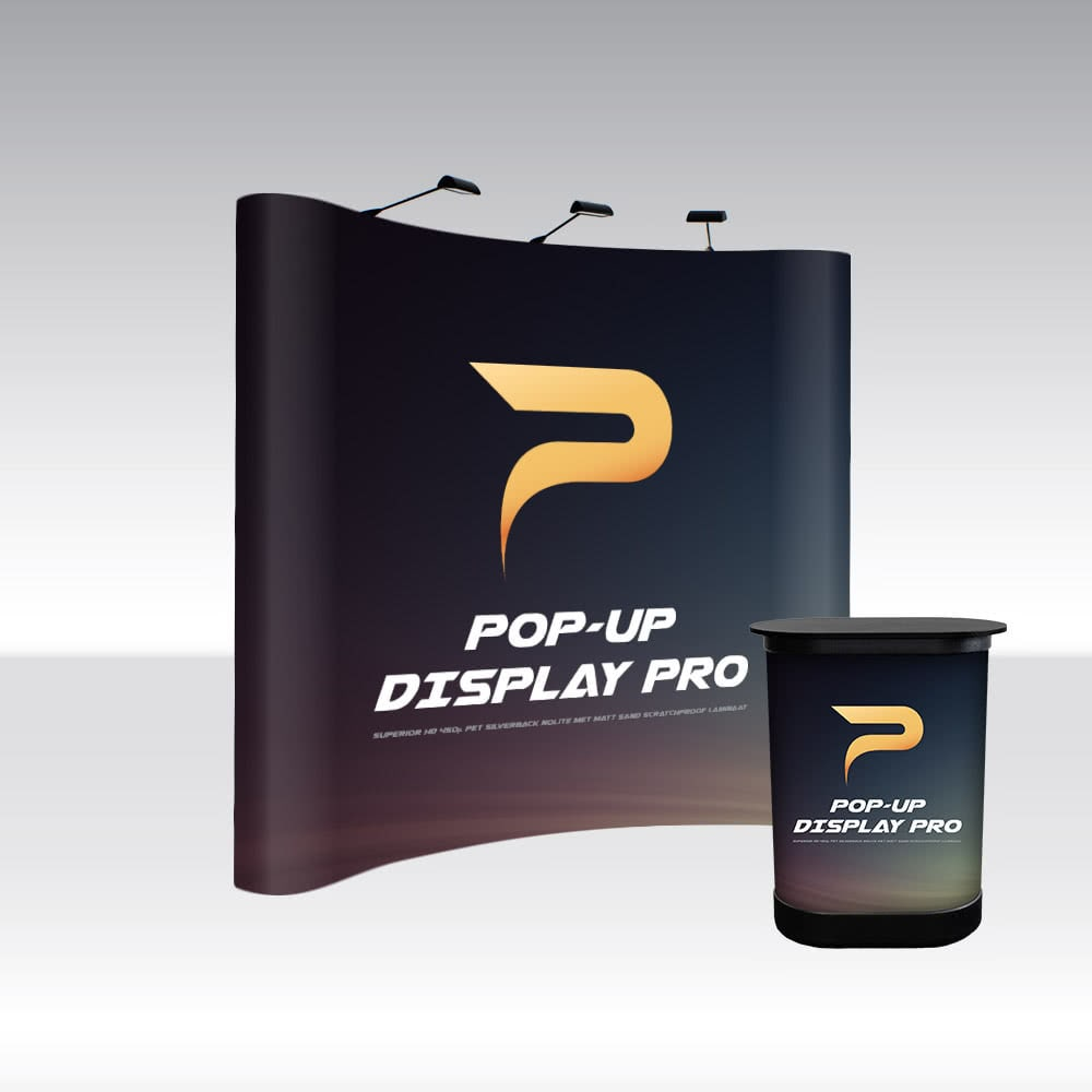 Pop up disply Pro 3x3 Curved