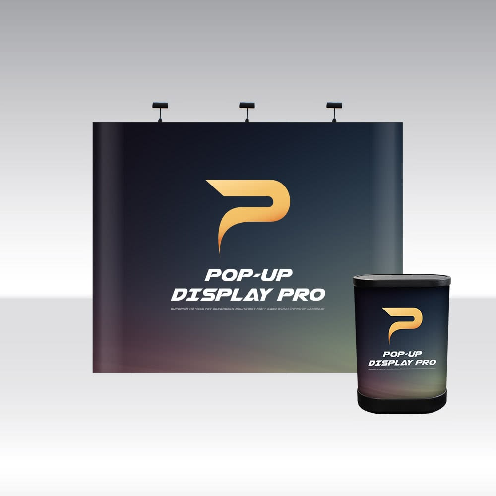 Pop-Up Display PRO 3x3 Straight