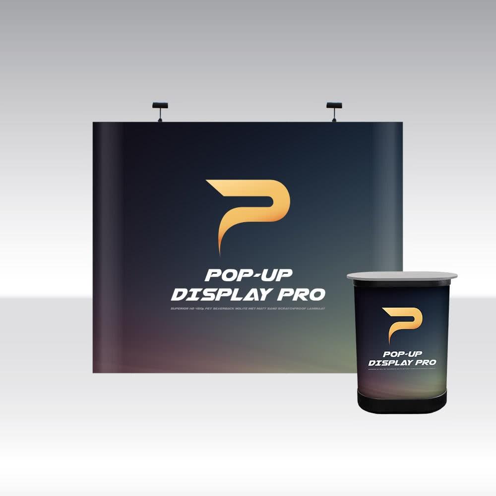 Pop-Up Display PRO 3x3 Straight
