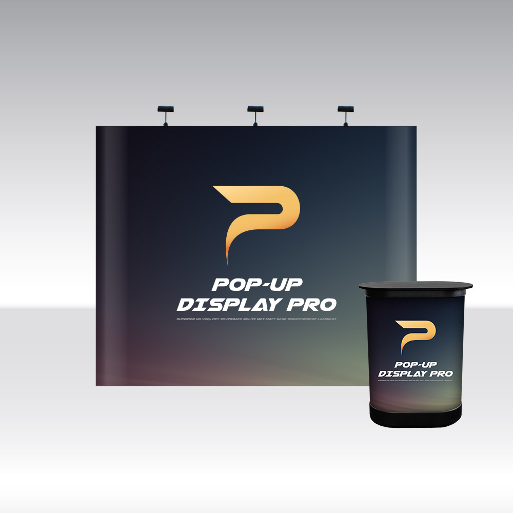 Pop-Up Pro Displays 3x3 Straight