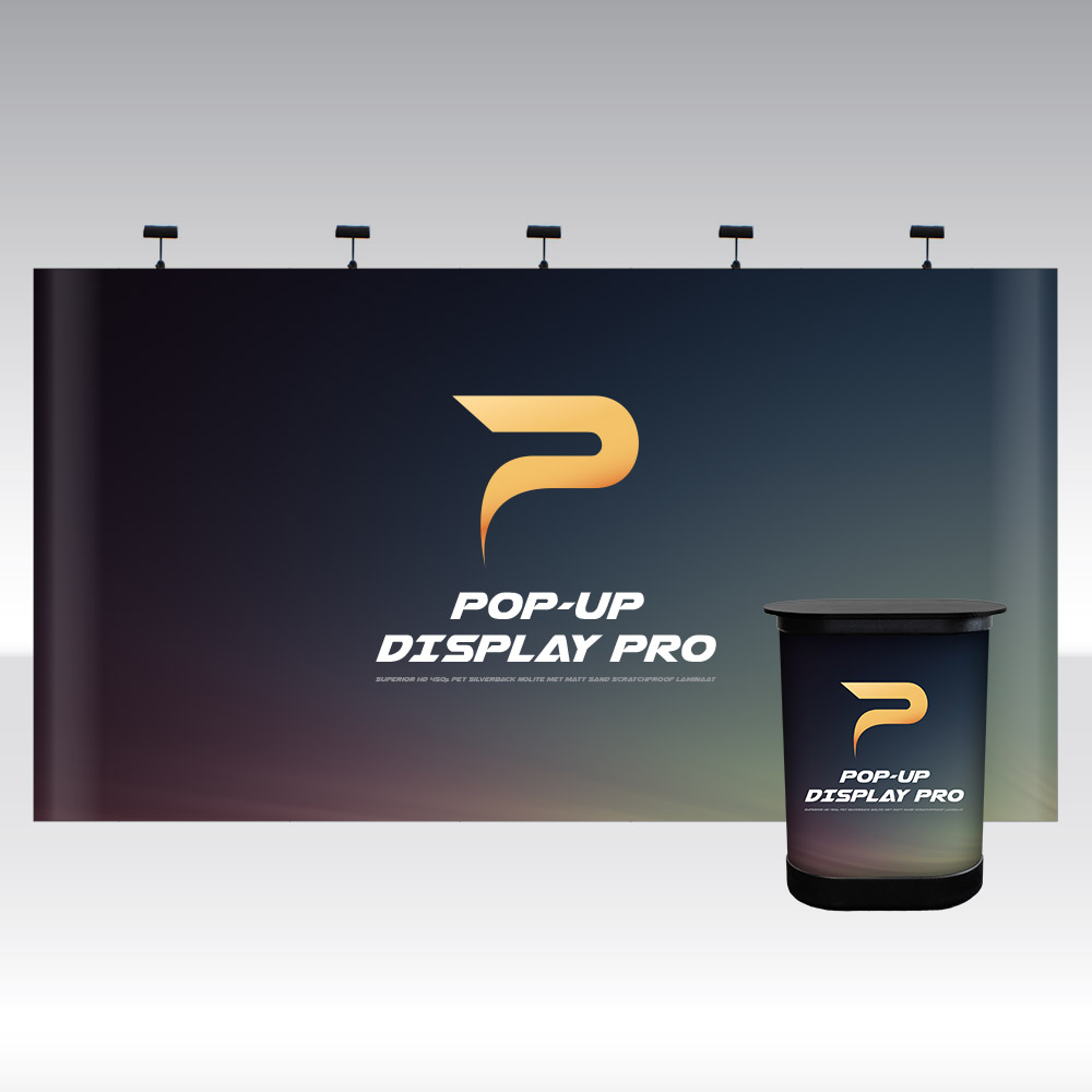 Pop-Up Pro Displays 5x3 Straight