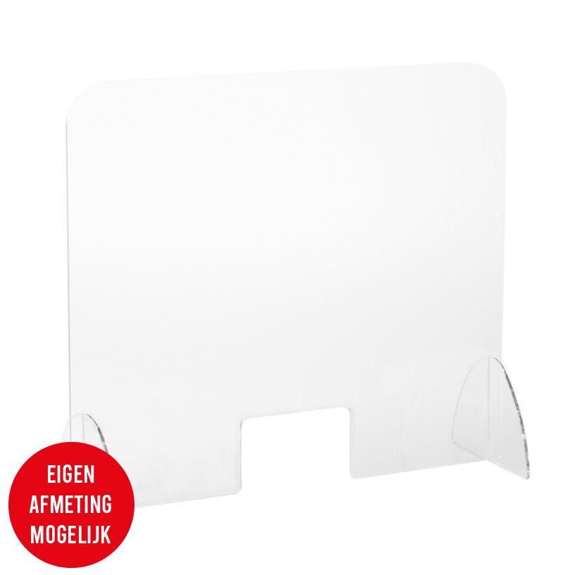 Preventiescherm Plexiglas met doorgeefsleuf