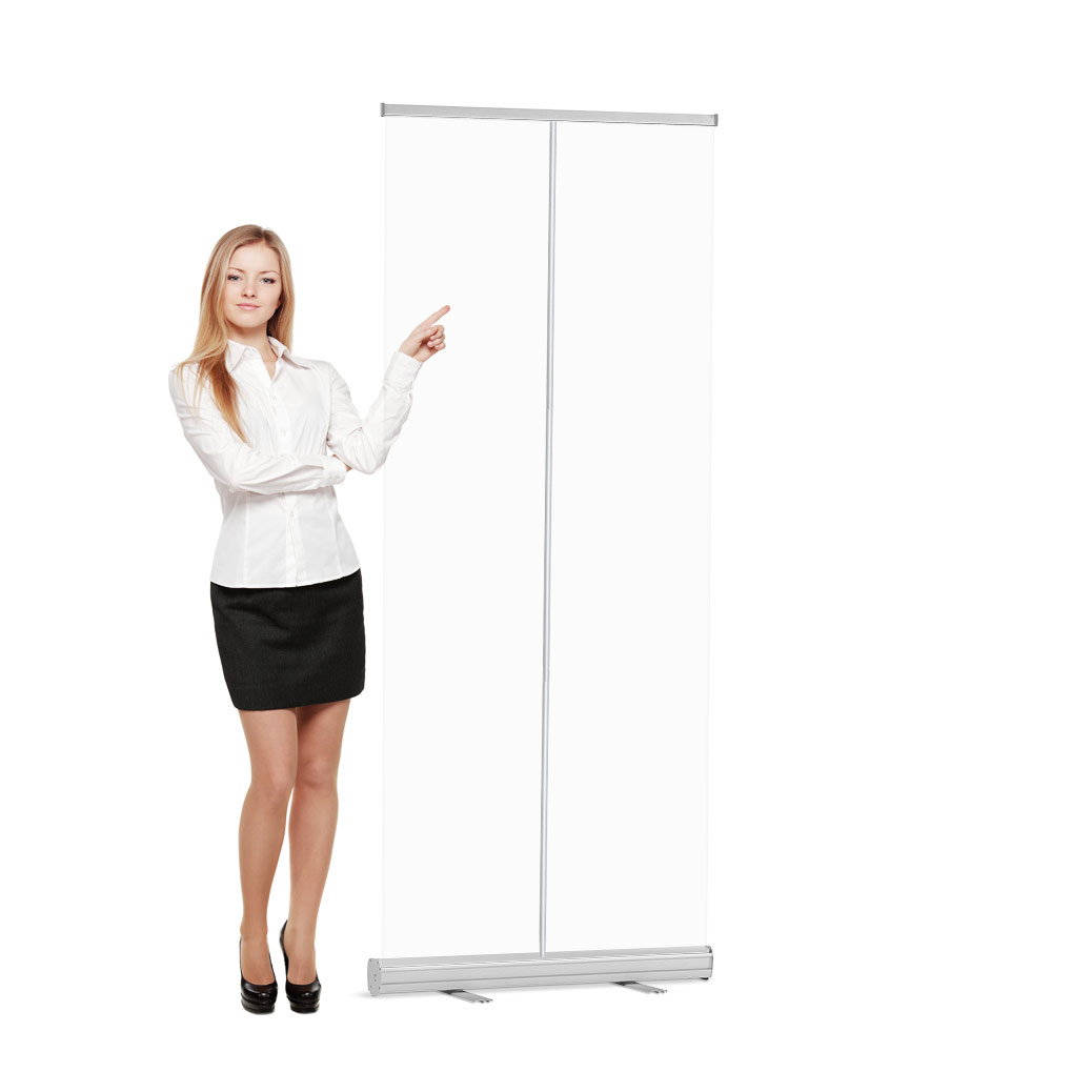 Roll-Up Banner Glashelder Preventiescherm