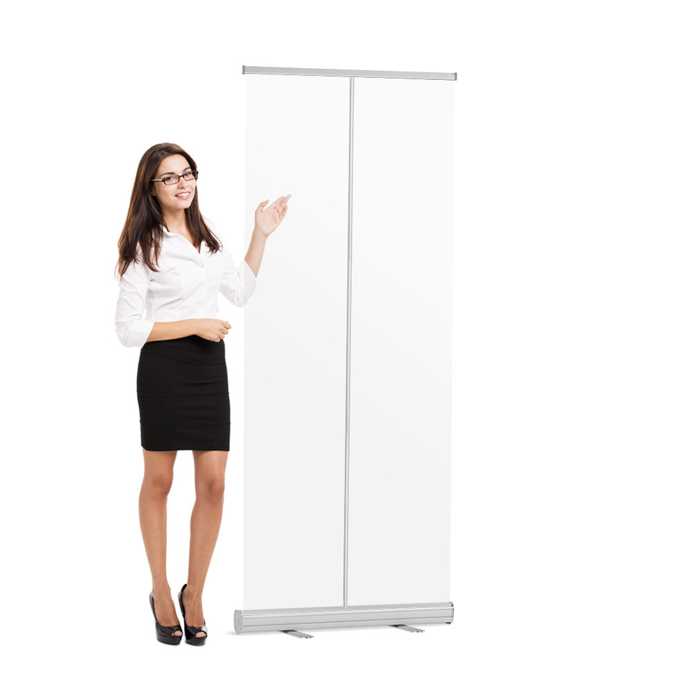 Roll-Up Banner Transparant Preventiescherm