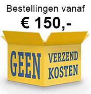 Uw bestelling vanaf € 150 gratis verzending per verzekerde koerier