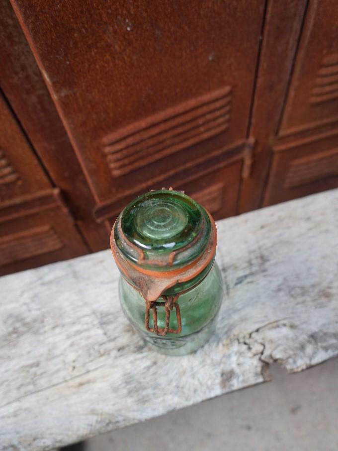 Glazen voorraadpot