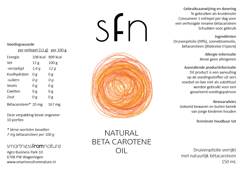 Natural Beta Carotene Oil