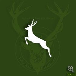 Sticker springend hert