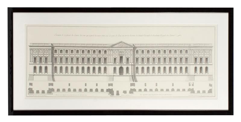 Eichholtz Prints  La Facade Du Louvre S/2