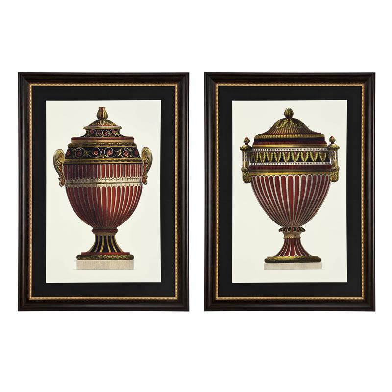 Eichholtz Prints Empire Urns Set Of 2
