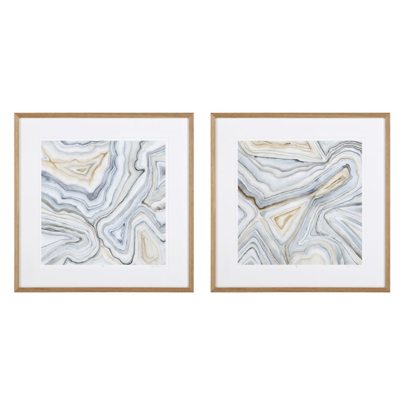 Eichholtz Prints Agate Abstracts Set Of 2