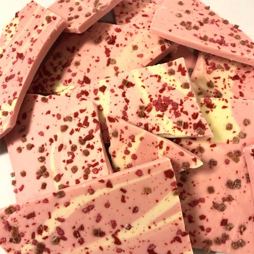 Breekchocolade Aardbei (1000 gram)