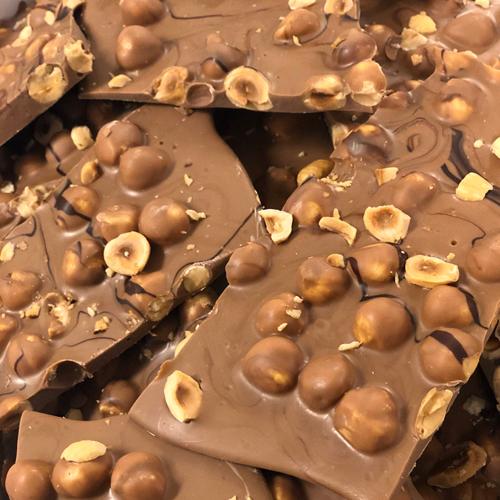 Breekchocolade Hazelnoot Melk (1000 gram)