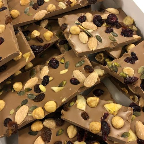 Breekchocolade Notenmix Melk (1000 gram)
