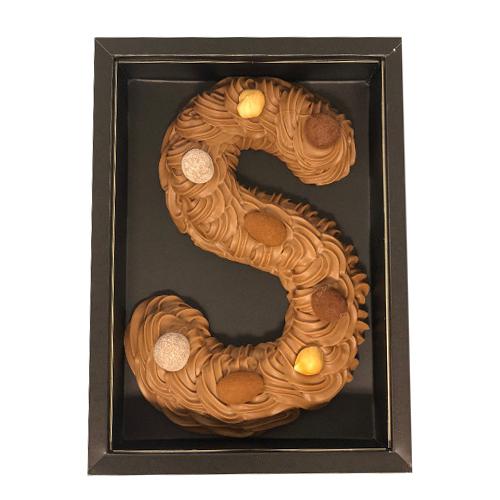 Chocolade letter melk Handgespoten (150 gram)