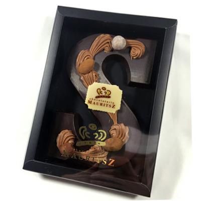 Chocolade letter puur met logo (210 gram)