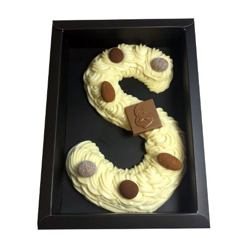 Chocolade letter wit Handgespoten (210 gram)