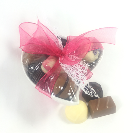 Hart Schaal steen met bonbons