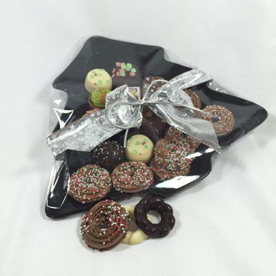 Presentatieschaal Kerstboom met bonbons (250 gram)