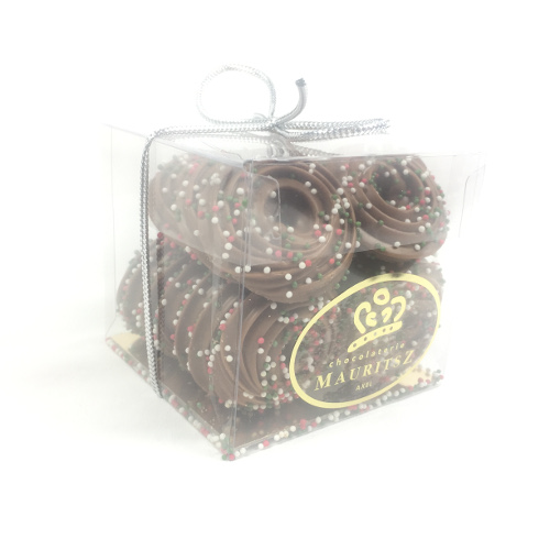Chocolade Kerst kransjes musket praliné (250 gram)
