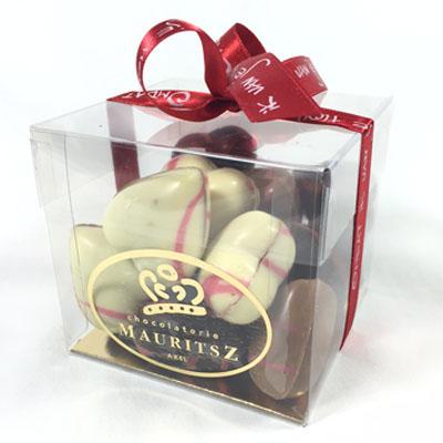 Chocolade voor Valentijnsdag - praline hartjes (250 gram)