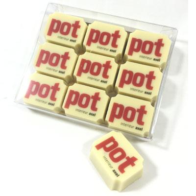 Chocolade bonbons met eigen logo of afbeelding (9 stuks)