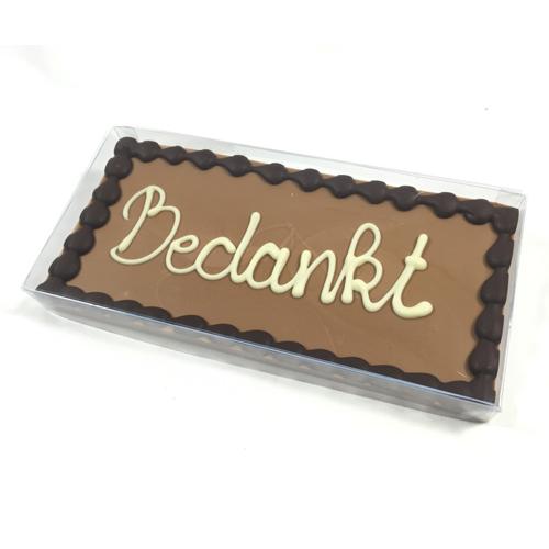 Chocolade reep met tekst (225 gram)