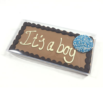 Geboorte chocolade reep - tablet met tekst It's a boy